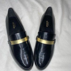 Kate spade Saturday Gold Strap Black loafers
